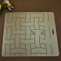 เทมเพลทสำหรับ Quilt แบบใส ขนาดเส้นยาว 8 cm. ขนาดทั้งแผ่น 20 x 21 cm.