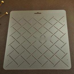 เทมเพลทสำหรับ Quilt แบบใส ช่องห่าง 2 cm.ขนาดทั้งแผ่น 20 x 21cm.