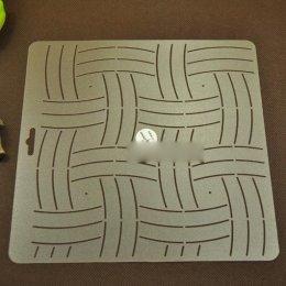 เทมเพลทสำหรับ Quilt ลายตาราง ขนาดทั้งแผ่น 20 x 21 cm.