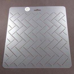 เทมเพลทสำหรับ Quilt  ช่องห่าง 2 cm.ขนาดทั้งแผ่น 20 x 21cm.