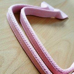 สายกระเป๋า cotton เย็บหนังด้านบน ปลายกว้าง 3.8 cm.ยาว 48 cm.