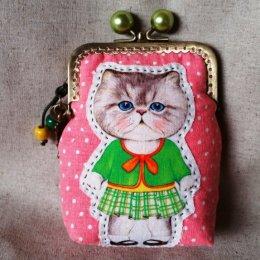 Cat Pikpak ขนาดปากกระเป๋า 8.5 x 12 cm. (กระเป๋าสำเร็จ)