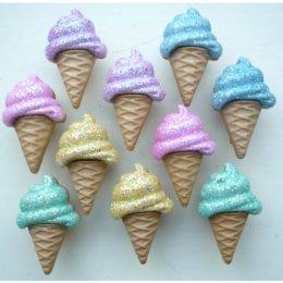 กระดุม Glitter Ice Cream ของ Dress It Up ราคา/แพ็ค