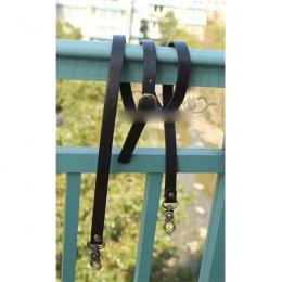 สายกระเป๋าสะพายหนัง PU สามารถปรับสายได้ ความยาวตลอดเส้น 127-135 cm.หน้ากว้าง 1.5 cm.สีดำ