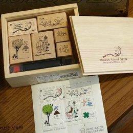 stamp Bird Collection ขนาด 19.7 x 18.8 x 3.7 cm.