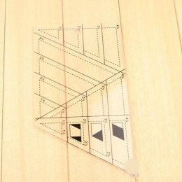 ไม้บรรทัด ทรงสามเหลี่ยม ใช้คู่กับโรตารี่คัทเตอร์