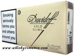 DAVIDOFF GOLD SLIMS 1 CTN= 10 PKS, 200 CIGG