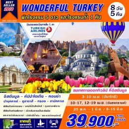 Wonderful Turkey 8D5N Tulips Bloom 8 DAYS 5 NIGHT [TK]