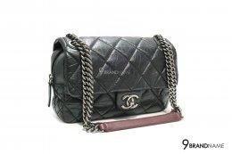 Chanel Flapbag Black Calf Skin SHW