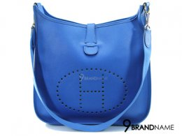 Hermes Everlyn Blue Paradise Epsom Leather GM  - Used Authentic Bag