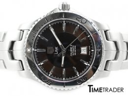 Tag Heuer Calibre5 Steel Auto Steel หน้าดำ หลักขีด Man Size