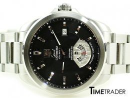 Tag Heuer Grand Carrera Calibre 6 หน้าดำ Steel Man Size