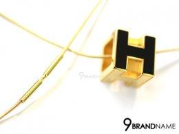 Hermes Necklack Ceramic H Black GHW สร้อยคอ แอร์เมส ลูกเต๋า H ทอง สลับ ด้าน เซรามิคดำ ของแท้มือสอง สภาพดีค่า