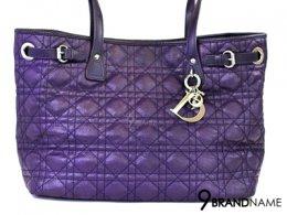 Dior Purple Panarea MM กระเป๋าดิออร์ ทรงชอปปิ้ง ขนาดกลาง น่าใช้ สีม่วง อะไหล่เงิน