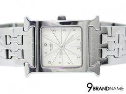 "Hermes Watch Steel H นาฬิกาHERMES ""H-Hour"" Lady Watch สาย Stainless steel หน้าปัดขาวสวยมากค่ะ หายากอีกด้วยใครเบื่อสายหนังลองเปลี่ยนมาเล่นสายสแตนเลท เรือนนี้ รับรองว่าสวยสุดๆค่า"