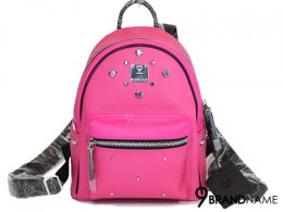 MCM Back Pack PVC Hot Pink Size Mini  -  Authentic Bag กระเป๋า MCM เป้สะพายหลัง สีชมพู ไซส์ S สายสีดำ ตัวสายสะพายสบายมากๆค่ะ สีสวยหวานสุดๆ