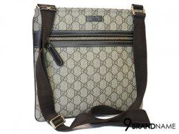 Gucci Messenger bags 295257 Canvas Small Messenger Bag -  Authentic Bag กระเป๋า กุซซี่ ครอสบอดี้ ไซส์25CM ทรงแบน ใช้งานสะดวกด้วยซิปบน และซิปด้านหน้า
