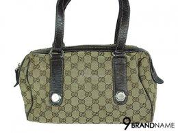Gucci Vintage GG Canvas Tote Sholder Bag - Used Authentic Bag กระเป๋า กุซซี่ สีน้ำตาล สะพายไหล่ สายยาว ผ้าทอโลโก้ทั้งใบ น้ำหนักเบา มีซิปบน ใช้งานสะดวก ของแท้ มือสอง สภาพดีคะ