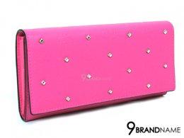 MCM Wallet Long Canvas Pink SHW  MYL6SCA03PU001 - Authentic Bag เป๋าตังค์ MCM ใบยาว สีชมพู แต่งหมุดทั้งใบ ด้านในใส่การ์ดได้ ช่องเก็บเงินใช้สะดวก อุปกรณืครบ สวยมากๆเลยค่าใบนี้
