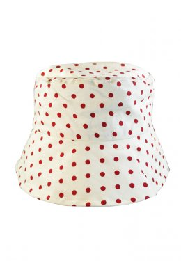 Polka Dotti White (Red)