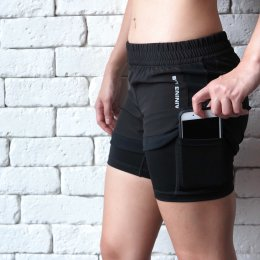 Women's TL Running Shorts 2/1 2.0 Black