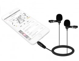 Boya BY-LM400 Dual Lavalier Mic for Smartphone