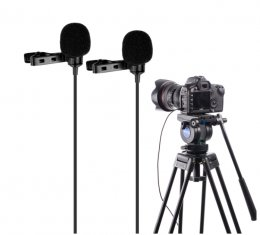 Boya BY-LM300 Dual Lavalier Mic for DSLR
