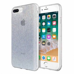 Incipio Design Series - Classic for iPhone 8 Plus, iPhone 7 Plus, & iPhone 6/6s Plus - Midnight Chrome Multi-Glitter