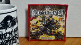 BOLT THROWER'Realm of Chaos' Woven Patch.(Bootleg)