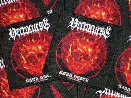 NECROCURSE'Hard Death' Woven Patch.