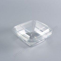 กล่องเบเกอรี่ PET เหลี่ยม 250 ml  M-025+ฝา (250 ml)
