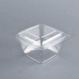 กล่องเบเกอรี่ PET เหลี่ยม 450 ml + ฝาในตัว (M-027)