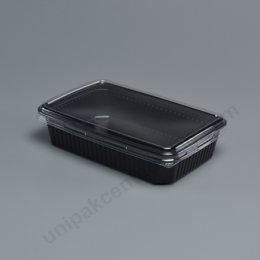 กล่องใส่อาหาร 1ช่อง 250gm PPดำ+ฝาPET ตรา โรดดี้แพค