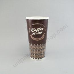 ถ้วยกระดาษ 22oz(660 cc) ลาย Coffee Road ตรา โรดดี้แพค