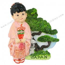 Girl in Kimono, Japan