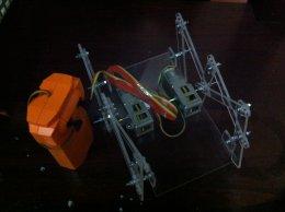 ชุดคิตหุ่นยนต์เดินหกขา(อคริลิคใส) พร้อมรีโมท