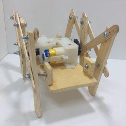 ชุดคิตหุ่นเดินหกขาโครงสร้างไม้ รุ่น Modify ไม่ประกอบ(ไม่รวมรีโมท)