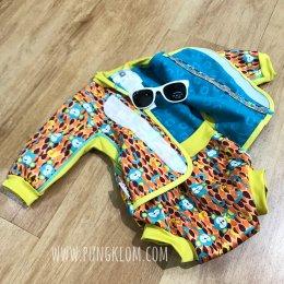Close baby cosy suit - Monkey