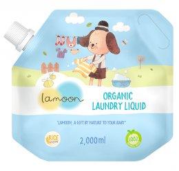 ละมุน ผลิตภัณฑ์น้ำยาซักผ้าเด็ก ออร์แกนิค 2,000 ml.