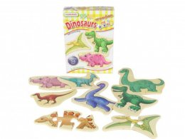 พัซเซิลไม้  Dinosaurs Mini Puzzles