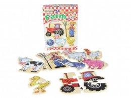 พัซเซิลไม้ Farm Mini Puzzles