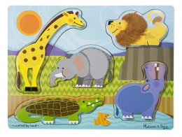Zoo Animals Touch and Feel Puzzle