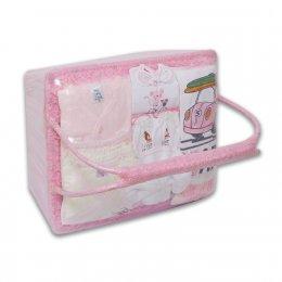 ชุดของขวัญแบบตะกร้าหิ้ว Size M - Auka สีชมพู