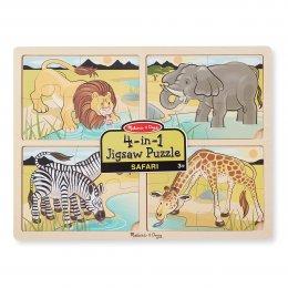 พัซเซิลเด็กเล็ก 4-in-1 Safari Jigsaw Puzzle