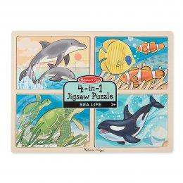 พัซเซิลเด็กเล็ก 4-in-1 Sea Life Jigsaw Puzzle