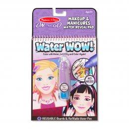 สมุดชุดระบายสีด้วยน้ำ รียูสซาเบิล พร้อมปากกา-Make-up & Manicure!