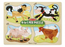 9858 -- 4-in-1 Farm Peg Puzzle