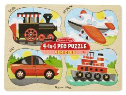 9865 -- 4-in-1 Peg Puzzle - Vehicles