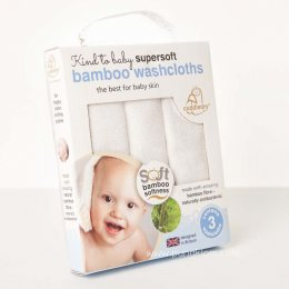 ผ้าขนหนูเช็ดหน้านุ่มพิเศษ Cuddledry - Supersoft Bamboo Washcloths