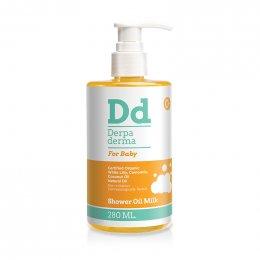 Derpa derma shower oil milk สำหรับทารกและเด็ก 280 ml.